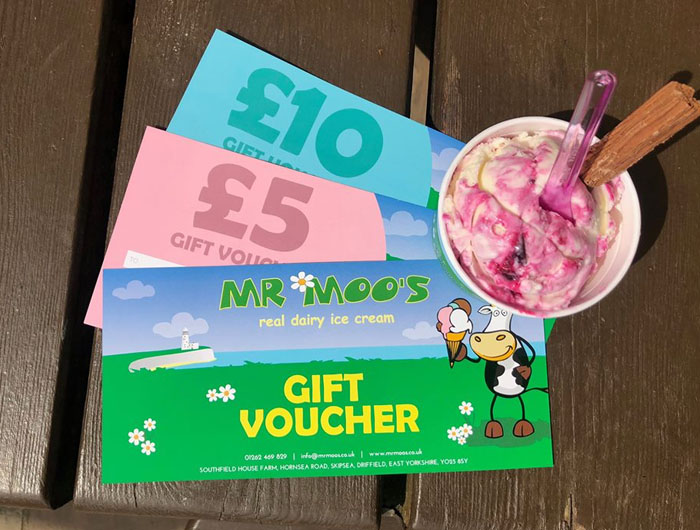 Mr Moo's Ice Cream Voucher