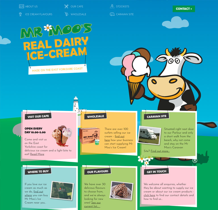 Mr Moo's Ice Cream Website