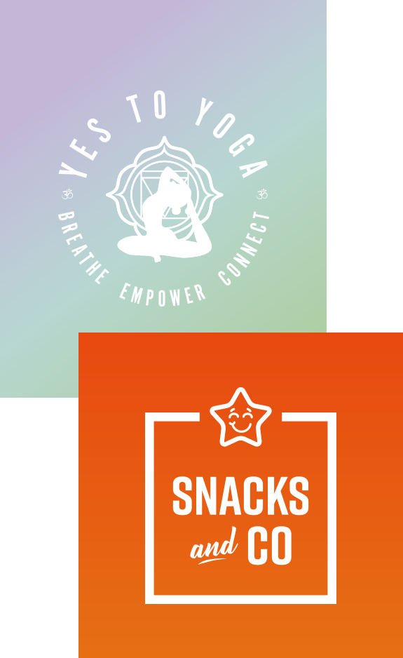 Yes to Yoga and Snacks & Co Branding