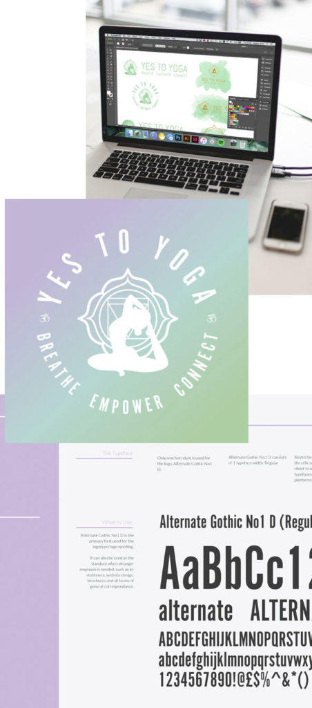 Yes To Yoga Branding Process Images