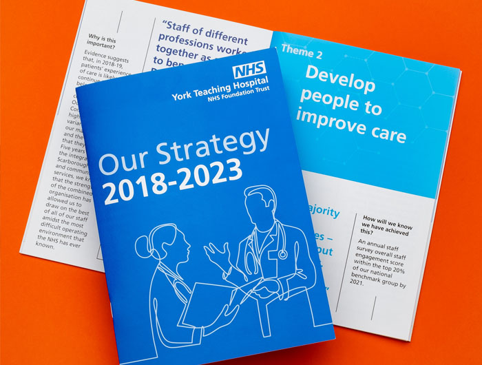 York Teaching Hospital NHS Brochure Design