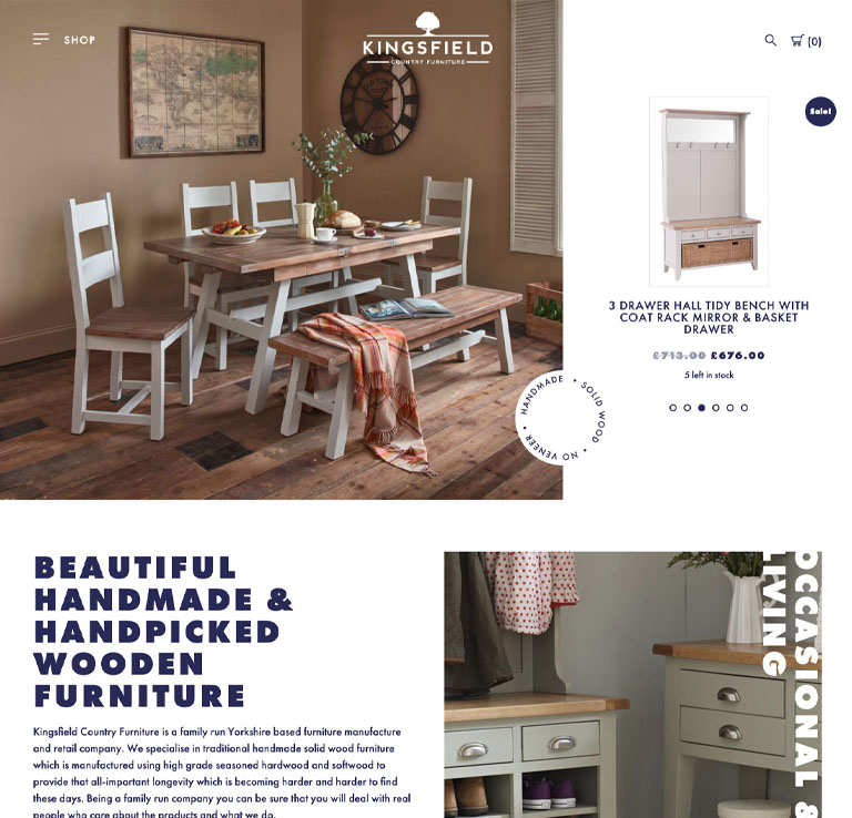 Kingsfield Country Furniture Website