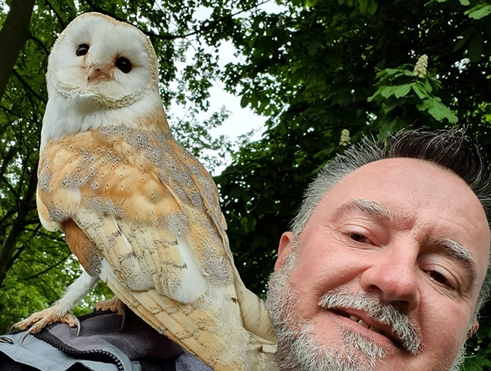 Mark Titcombe and Owl
