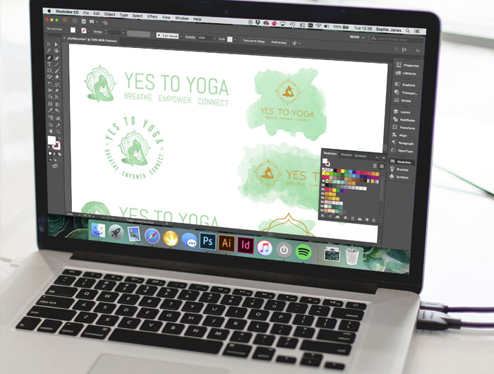 Yes to Yoga Branding